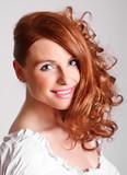 Fototapety red head