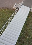 Steel Staircase outdoors poster