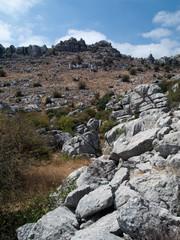 Montagne et rochers du parc naturel du Torcal