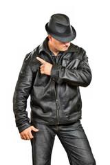 hat wearing man
