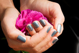 Manicure with rose
