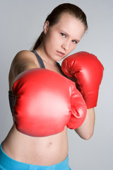 Young Boxing Woman