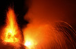 Leinwandbild Motiv Eruption  des Vulkan Stromboli
