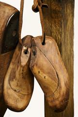 forme di scarpe di legno