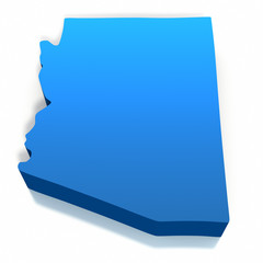 United States Arizona Map Outline