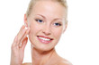 Face of beautiful health smiling woman