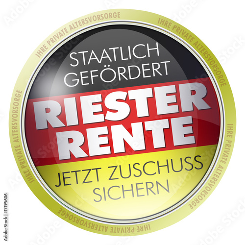 button label logo riester rente private altersvorsorge von. Black Bedroom Furniture Sets. Home Design Ideas