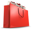 Shoppping bag with gift boxes