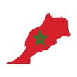 mappa bandiera Marocco