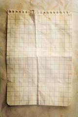 Creased Notepad Sheet