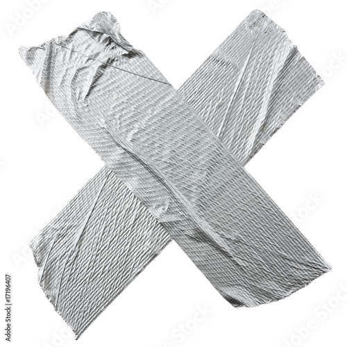 Crossed Duct Tape Stripes
