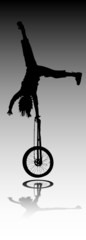 acrobatics vector silhouette