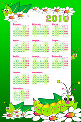 2010 Kid italian calendar with grubs