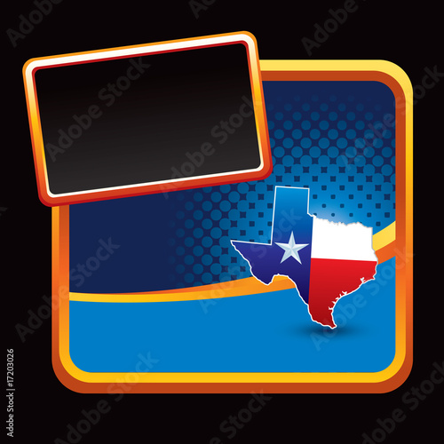 Texas icon on stylized banner