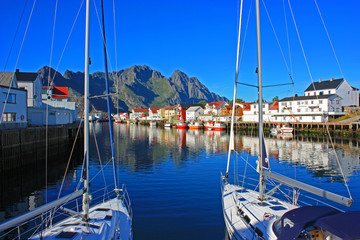 Harbour of henningsvaer in lofoten