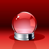Vector snow globe or crystal ball. Insert your own object. poster