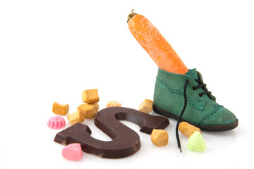 Shoe with carrot and candy