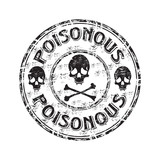 Poisonous grunge rubber stamp poster