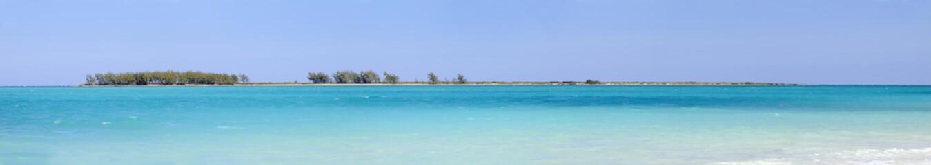 Cayo coco beach panorama, cuba