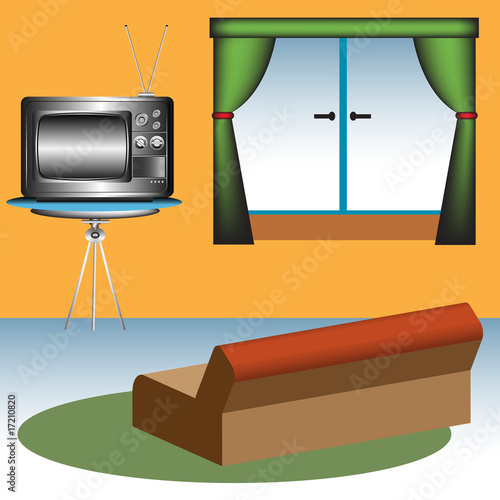 Sofa and TV