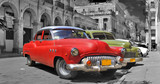 Obraz na płótnie Colorful Havana cars panorama