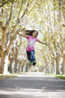 Tween Girl Jumping