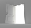 Opened door to light