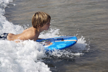 Child on a boogie board