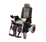 A Modern Motorised Wheelchair for a Disabled Person. poster