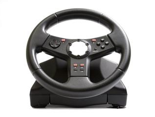 Black joystick isolated on a white.
