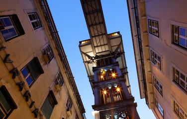 Fahrstuhl - Elevador de Santa Justa in Lissabon, Portugal