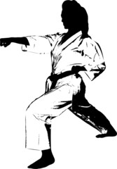 Karate right hand punch