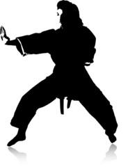 Karate right hand block