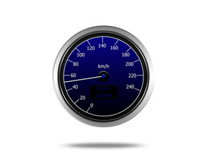 speedometer isolated on a white background