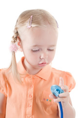 Little girl with sthetoscope