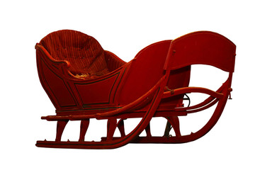 Horse snow sleigh