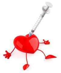 Coeur et seringue