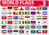 World Flags | Ultimate Collection | 287 flags | Volume 3 poster