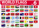 World Flags | Ultimate Collection | 287 flags | Volume 6 poster