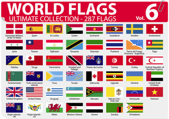 World Flags | Ultimate Collection | 287 flags | Volume 6