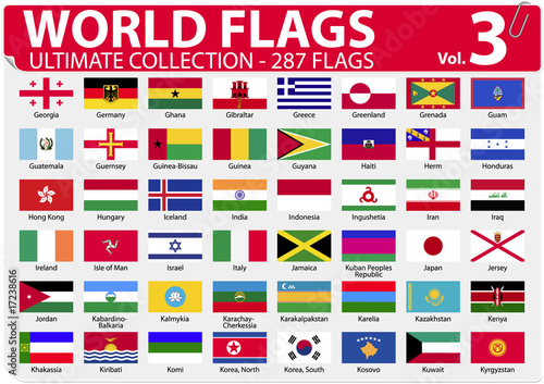 World Flags | Ultimate Collection | 287 flags | Volume 3