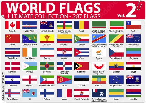 World Flags | Ultimate Collection | 287 flags | Volume 2
