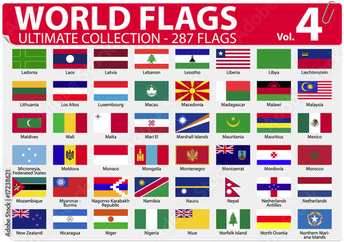 World Flags | Ultimate Collection | 287 flags | Volume 4