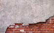 Leinwanddruck Bild - Mauer