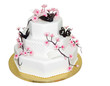 Three Tiered Iced Cake with clipping path