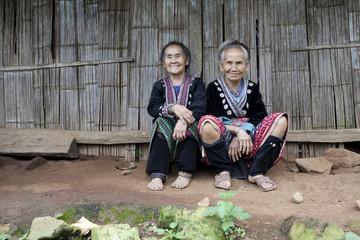 alte Frauen in Asien, Volksgruppe Meo