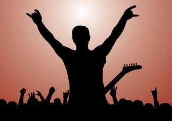 Rock Concert Silhouette