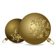 Golden Christmas bulbs