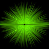 Abstract green cosmic background poster