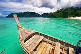 Boat in the tropical sea. Phi Phi island. Thailand